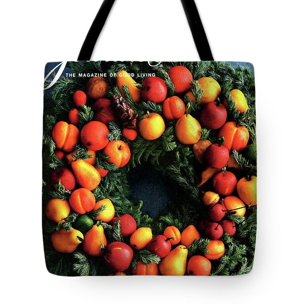 Gourmet Magazine Cover Featuring Marzipan Wreath Tote Bag