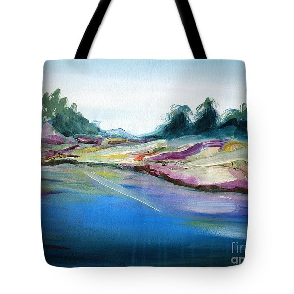 Gowrie Creek Spring Tote Bag by Therese Alcorn