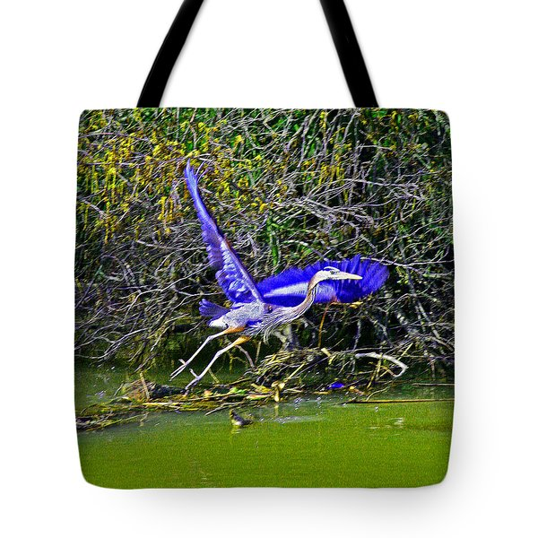 Gr8 Heron Flight Tote Bag