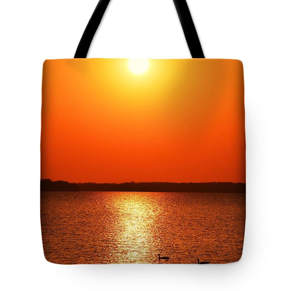 Grab Your Cup Of Coffee And Enjoy The Sunrise Tote Bag by Dacia Doroff