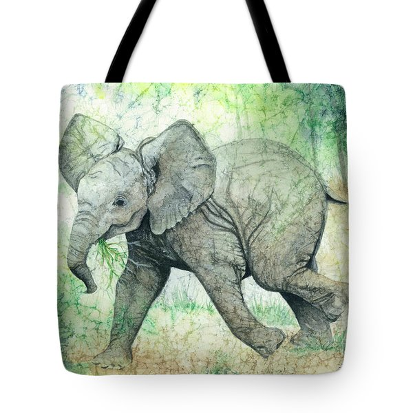 Tote Bag featuring the painting Grabbing A Snack by Barbara Jewell