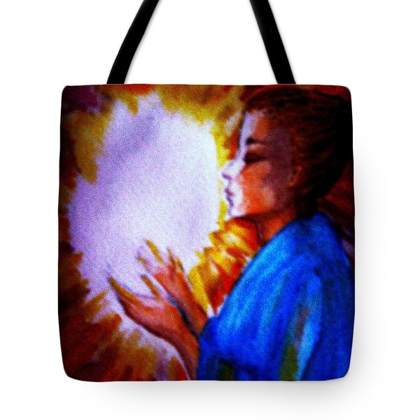 Tote Bag featuring the painting Grace - 1 by Leanne Seymour