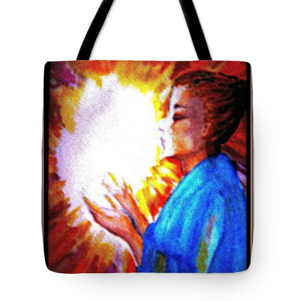 Tote Bag featuring the painting Grace - 2 by Leanne Seymour