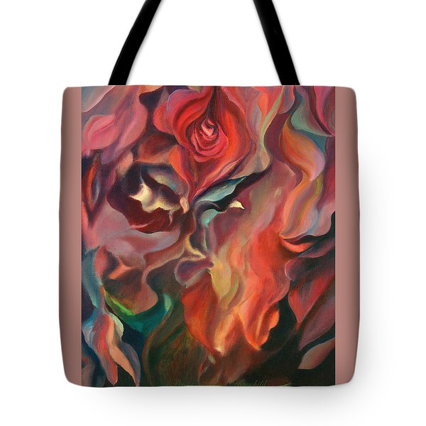 Tote Bag featuring the painting Grace And Desire - Floral Abstract by Brooks Garten Hauschild