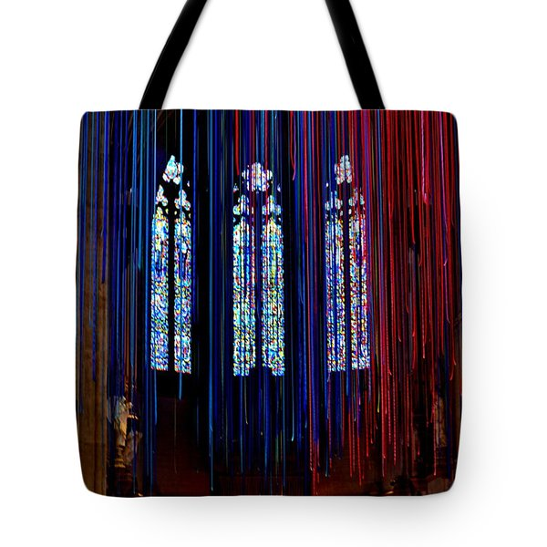 Grace Cathedral With Ribbons Tote Bag by Dean Ferreira