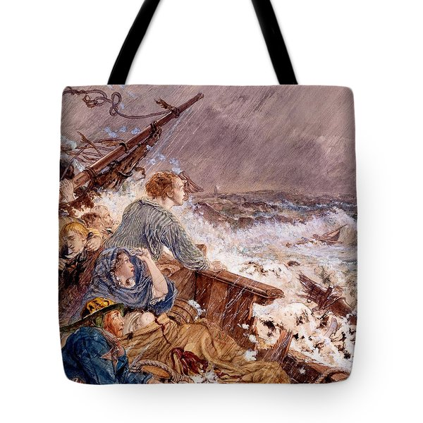 Grace Darling And Her Father Saving Tote Bag