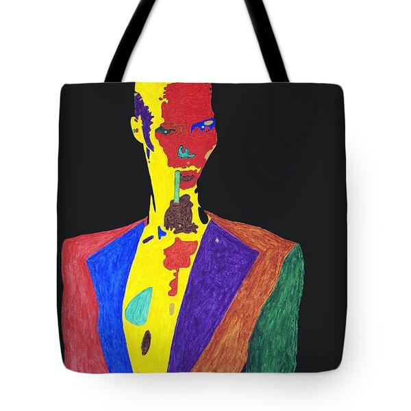 Grace Jones Tote Bag by Stormm Bradshaw