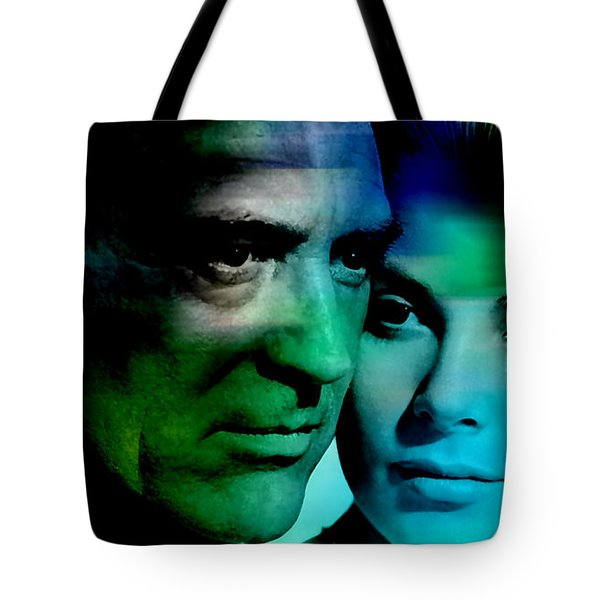 Grace Kelly And Cary Grant Tote Bag by Marvin Blaine
