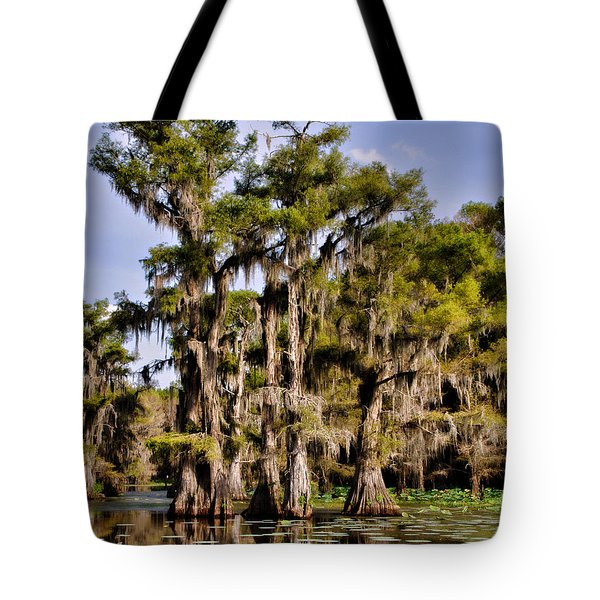 Tote Bag featuring the photograph Grace Of Caddo by Lana Trussell