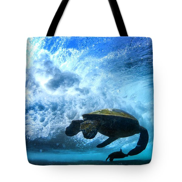 Grace Under The Waves Tote Bag