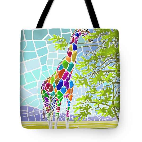 Tote Bag featuring the painting Graceful by Anthony Mwangi