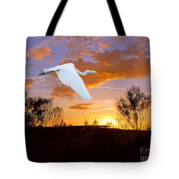 Graceful Fly By Tote Bag by Adele Moscaritolo