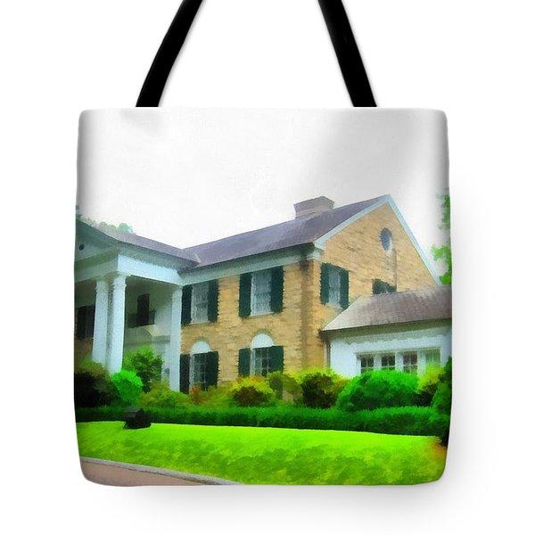 Graceland Mansion Tote Bag by Dan Sproul