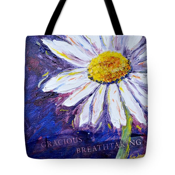 Tote Bag featuring the painting Gracious Daisy by Lisa Fiedler Jaworski