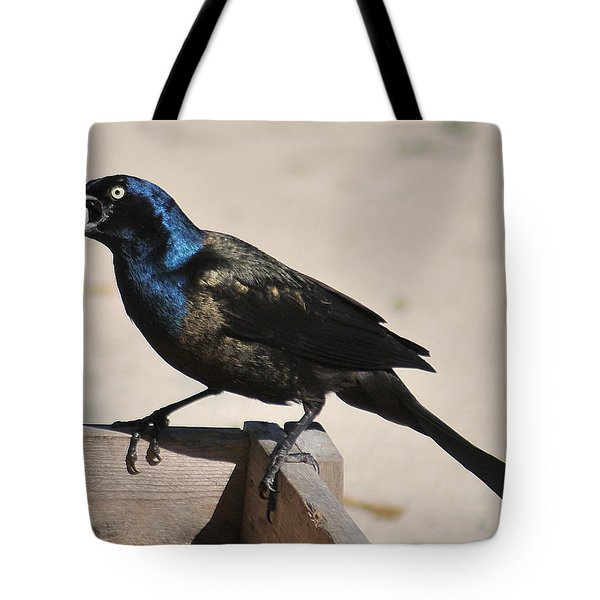 Grackle Chow Down Tote Bag
