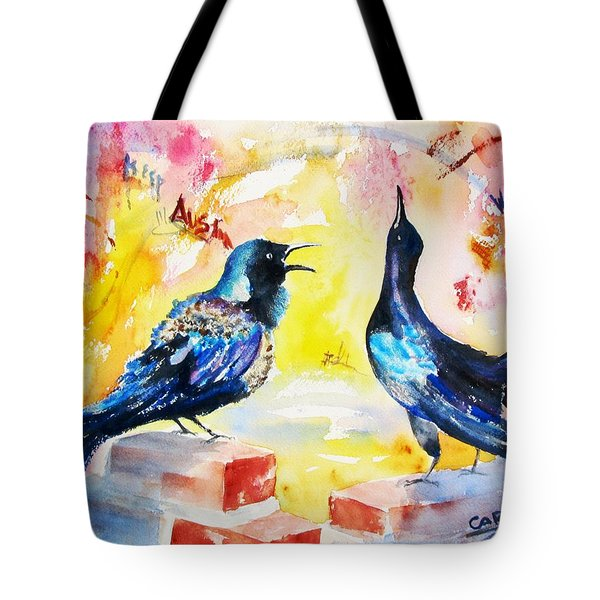 Grackles And Graffiti  Tote Bag