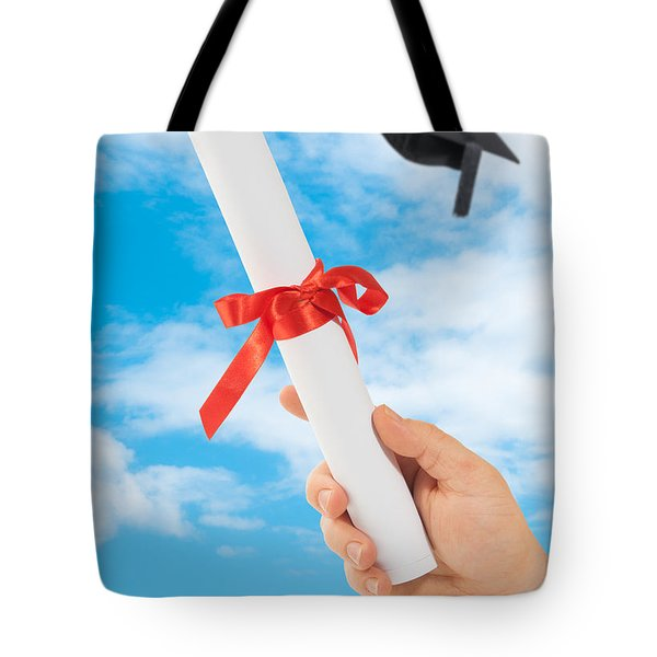 Graduation Scoll And Cap Tote Bag by Amanda Elwell