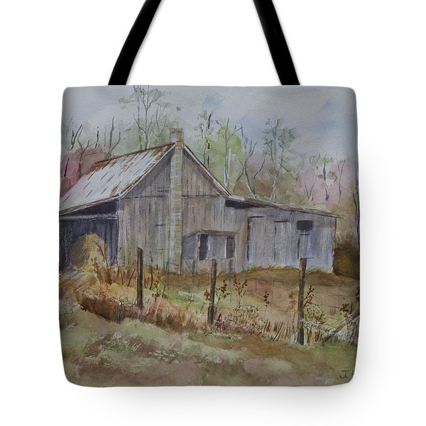 Grady's Barn Tote Bag by Janet Felts