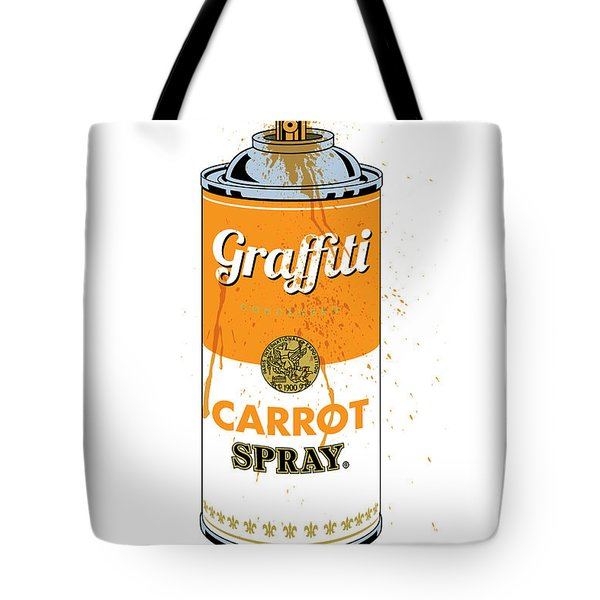 Graffiti Carrot Spray Can Tote Bag