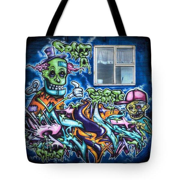 Graffiti City Tote Bag by Evelina Kremsdorf