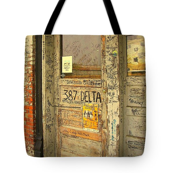 Graffiti Door - Ground Zero Blues Club Ms Delta Tote Bag