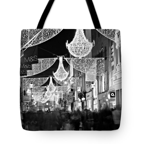 Grafton Street At Christmas / Dublin Tote Bag