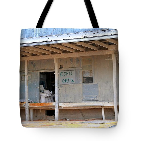 Tote Bag featuring the photograph Grain Elevator by Terri Gostola