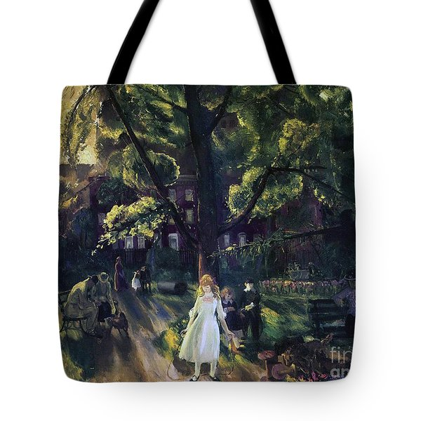 Gramercy Park Tote Bag by George Wesley Bellows
