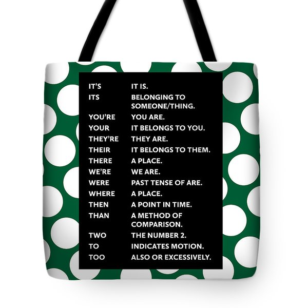 Grammar Rules Tote Bag