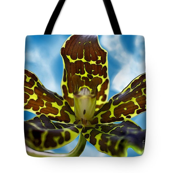 Tote Bag featuring the digital art Grammatophyllum by E B Schmidt