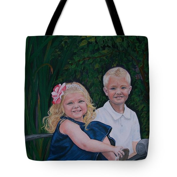 Grampa And Gramma's Joy  Tote Bag
