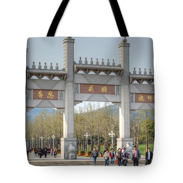 Grand Buddha Gates Tote Bag