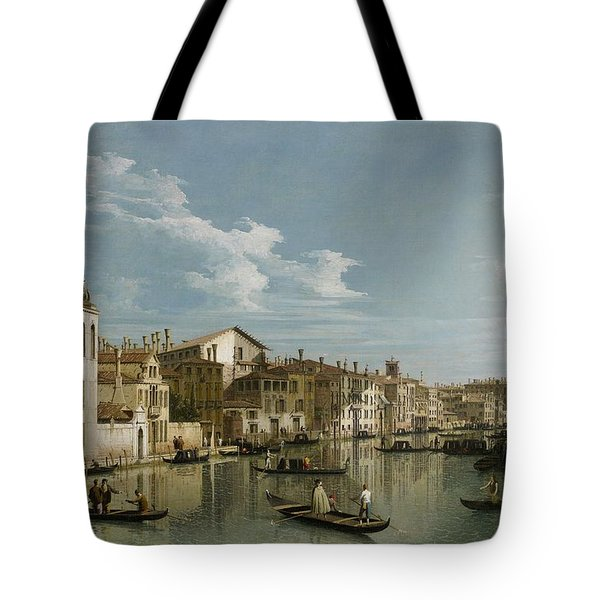 Grand Canal From Palazzo Flangini To Palazzo Bembo Tote Bag by Canaletto