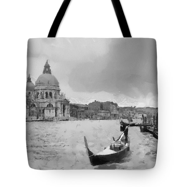 Tote Bag featuring the painting Grand Canal Venice Italy by Georgi Dimitrov