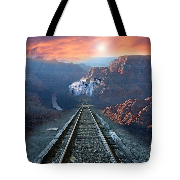 Tote Bag featuring the photograph Grand Canyon Collage by Gunter Nezhoda