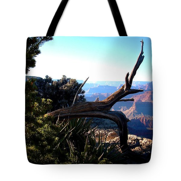 Tote Bag featuring the photograph Grand Canyon Dead Tree by Matt Harang