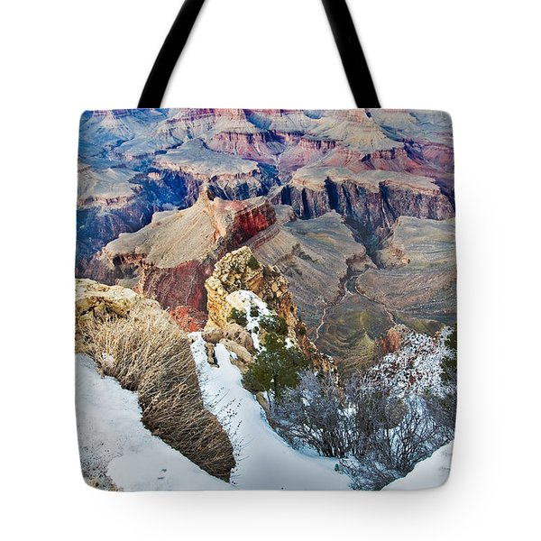 Tote Bag featuring the photograph Grand Canyon In February by Mae Wertz
