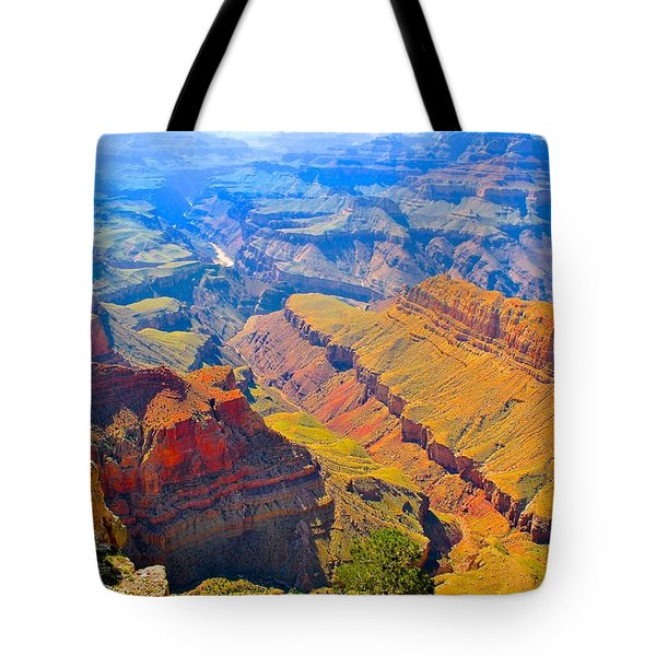 Grand Canyon In Vivid Color Tote Bag