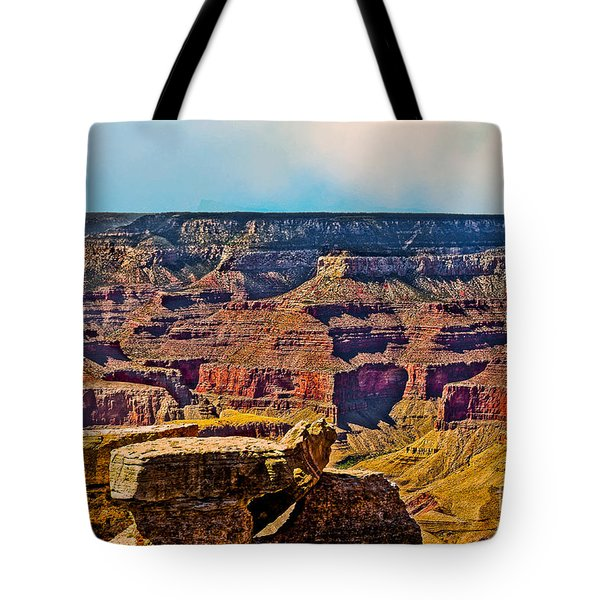 Grand Canyon Mather Viewpoint Tote Bag by Bob and Nadine Johnston