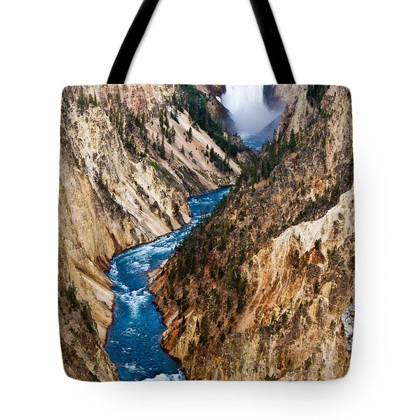 Grand Canyon Of Yellowstone Tote Bag by Bill Gallagher