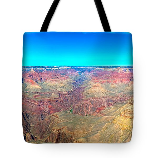 Tote Bag featuring the photograph Grand Canyon Panorama by Penny Lisowski
