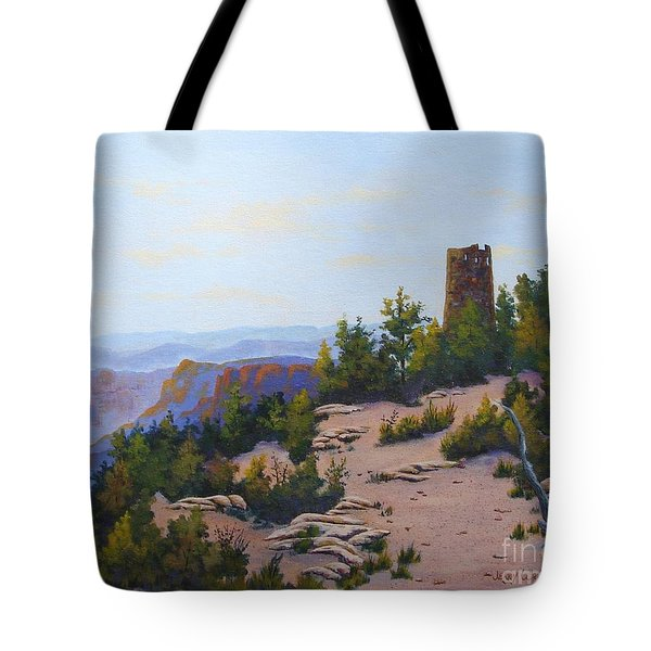 Grand Canyon Watchtower Tote Bag