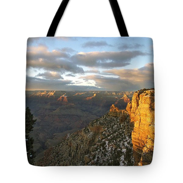 Grand Canyon. Winter Sunset Tote Bag