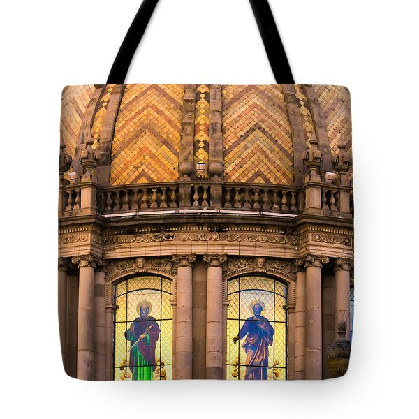 Tote Bag featuring the photograph Grand Cathedral Of Guadalajara by David Perry Lawrence