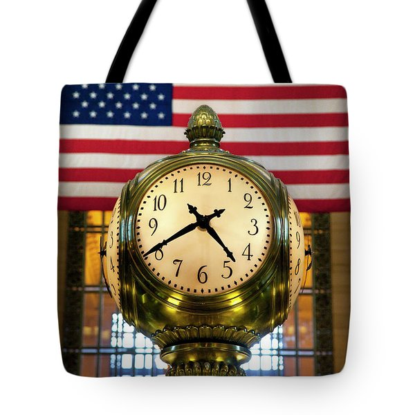 Grand Central Clock Tote Bag by Brian Jannsen