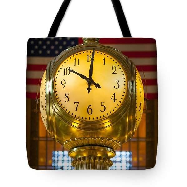 Grand Central Clock Tote Bag by Inge Johnsson