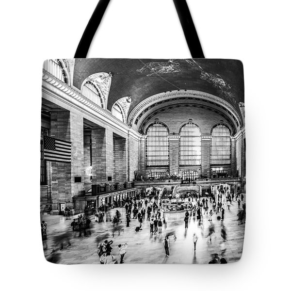 Grand Central Station -pano Bw Tote Bag