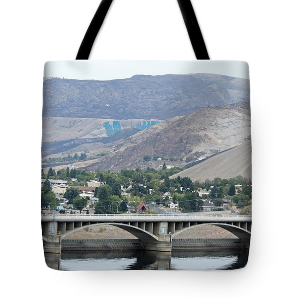 Grand Coulee Dam And Coulee City Tote Bag by E Faithe Lester
