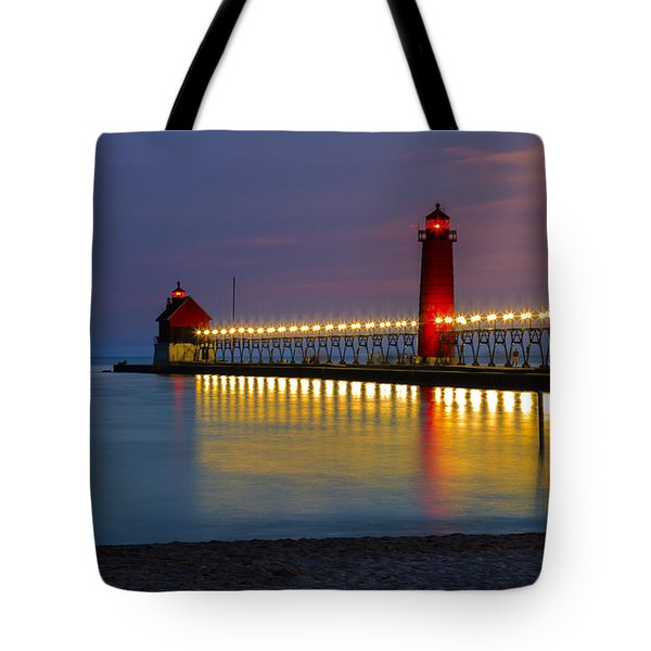 Grand Haven South Pier Lighthouse Tote Bag