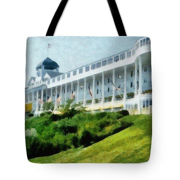 Grand Hotel Mackinac Island Ll Tote Bag by Michelle Calkins